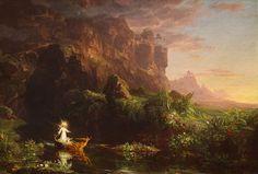 Thomas Cole Voyage of Life Series - Childhood
