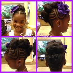 Natural hairstyle for little black girls