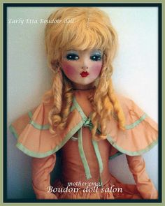 boudoir doll peach etta