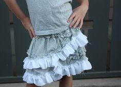 luke and hailie girl: J.CREW diy skirt....