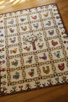 Chicken quilt ... DSC04149 by dutch blue, via Flickr