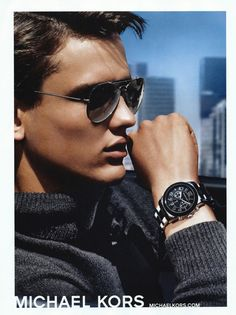 Simon Nessman Poses for Michael Kors Fall/Winter 2013 Eyewear & Watches Campaign