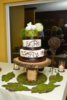 Wedding Cake Stand 16 to 21 Custom initals Cake by theGypsybird