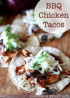 BBQ Chicken Tacos With Caramelized Red Onion..