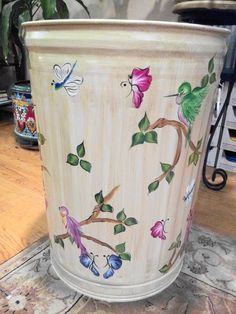 20 Gallon Hand Painted Can  krystasinthepointe.com - ETSY