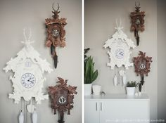 love this cuckcoo clock collection ... via dearest someday