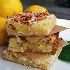 Gonna Want Seconds: Lemon Coconut Bars