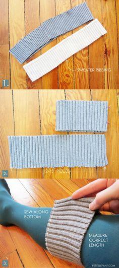 DIY sweater cuff