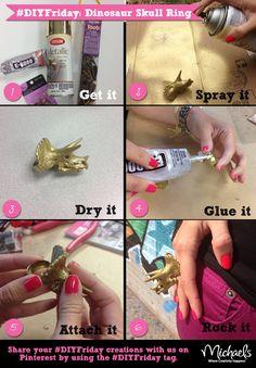 DIY Rocking Dinosaur Skull Ring - Great Gift!
