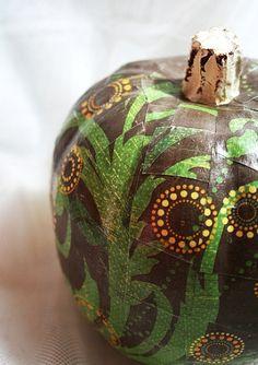 Mod Podge decoupage pumpkin