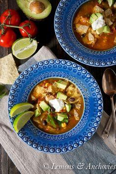 Chicken Tortilla Soup @Jean Pope | Lemons & Anchovies
