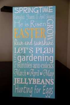 Easter sign I want to make =)
