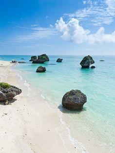 Tropical Japan's coastline - Okinawa, Japan------