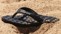 #Reef Sandal on the beach in Puerto Rico