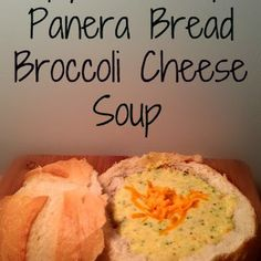 Copy Cat Panera Bread Broccoli Cheese Soup Recipe- I don't think I ever had the Panera version but Aaron and I enjoyed this soup.
