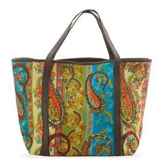 S/S 2013 NEW ARRIVAL Paisley Print Shopper Bag
