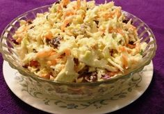 Minnie's Cool Cabbage Slaw from Kelli at SouthernMomCooks.com