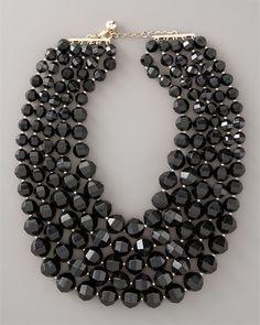 fashion, style, accessori, bibs, spade black, bib necklaces, jewelri, black bib, kate spade