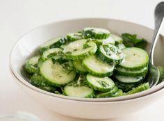 Cucumber-Mint Salad with Creamy Lemon & Greek Yogurt Vinaigrette    KitchenDaily.com