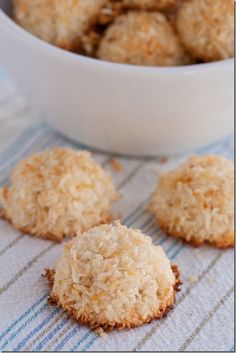 Coconut Macaroons (Gluten-Free, Paleo), I used half a lemon for the zest and sweetened coconut--turned out amazing!