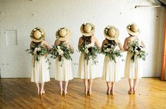 Top every bridesmaid style with a hat via @gws