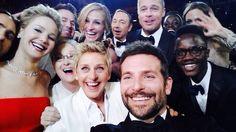 selfie, oscar 2014, famous peopl