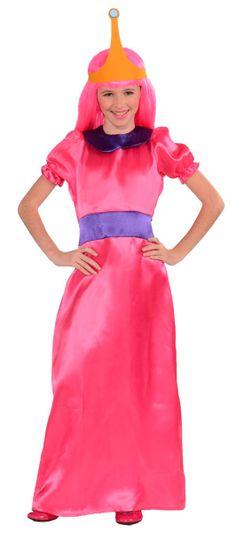 Disfraz niña Princesa Bubblegum. Hora de aventuras Disfraz de una de las protagonistas de la serie animada más  vista en TV (adventure time). La princesa chicle.