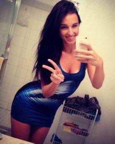 Cute girl in tight dress