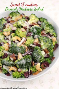 Sweet Tomatoes Broccoli Madness Salad #recipe