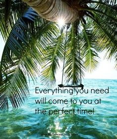 Everything you need will come to you at the perfect time!