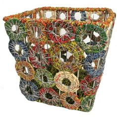 How to Recycle: Recycled Waste Basket