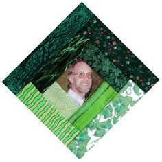 Mike in a log cabin quilt block