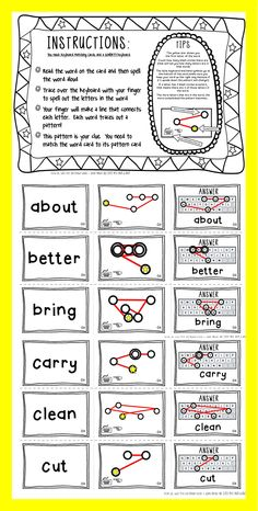 Keyboard Spelling puzzles - make learning those sight words fun! Add an old keyboard and some pipe cleaners and your new spelling center/station is ready to go! (Or use an ipad, laptop or smartboard to put a high tech twist on things) Dolch & Fry packs in a variety of levels available...