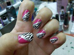 Pink zebra fun