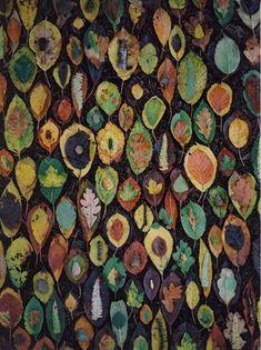 "Tim Pugh, ""Woodland Floor Rearrangement"" Leaves,Sticks,Woodland Debris. Bilberry Woods, Flintshire. October 2005"