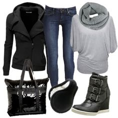 Cute & Cozy Outfits for cold weather ~ New Women's Clothing Styles & Fashions