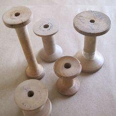 vintage wood spools