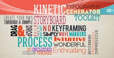 Kinetic Typography Generator ToolkitThe KINETIC  http://videohive.net/item/kinetic-typography-generator-toolkit/6840651?ref=lasgole TYPOGRAPHY GENERATOR PACKAGE is a AE CS 5.0 Full HD package coming with an kinetic typograpgy generator automated system. Build very easily without keyframing your own storyboard or customize the included ones. No plug-in required, 5 detailed video tutorials (+-40 min), free fonts links and music link included, pdf file with the video tutorials contents…