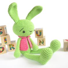 Ravelry: Long-legged bunny in a vest - Crocheted amigurumi rabbit pattern by Kristi Tullus.