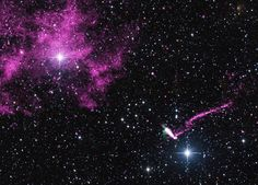 Chandra Sees Runaway Pulsar Firing an Extraordinary Jet - SpaceRef