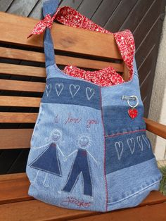 denim & bandana bag