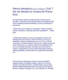Puterea Intentiei. Cele 7 Fete Ale Intentiei in Viziunea Lui Wayne Dyer (2)