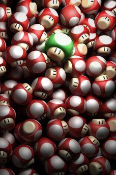 Nintendo geek, 3d character, stuff, supermario, mario mushroom, super mario, video game, nintendo 3ds, mushrooms