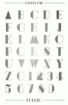 """Public font"" by UPPERTYPE"