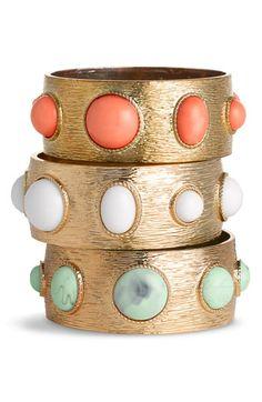Colored Stone Bangles.