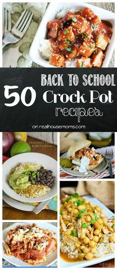50 Back to School Crock Pot Dinner Recipes | Real Housemoms