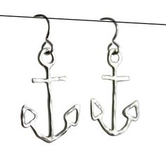 Anchor Earrings Silver, $79, now featured on Fab.