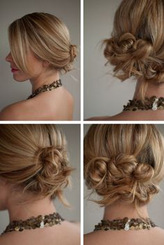 hair romance, wedding updo, wedding hairs, messy buns, girl hairstyles, hair style, knot, hair buns, bridesmaid hairstyles
