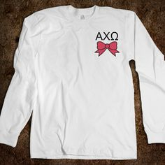 Alpha Chi Omega - Long Sleeve - Bow TWO OF MY FAVORITE THINGS!!