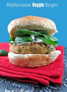 Mediterranean Veggie Burger- I wish I could make these right now!!!